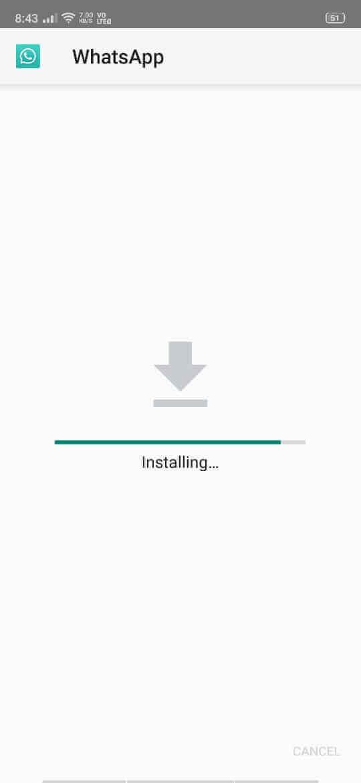 Installing GBWhatsApp APK